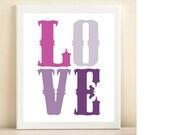 "Purple ""Love"" print poster"