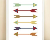 Colorful Arrows print poster