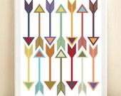 Arrows print poster