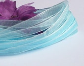 6mm Organza Ribbon -  Pale Blue / Aqua - 10 yards / 30 Feet