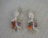 Multi Colored Gemstone Earrings