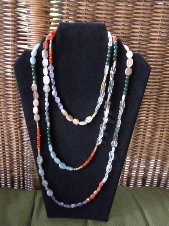 Multi Color Gemstone Necklace