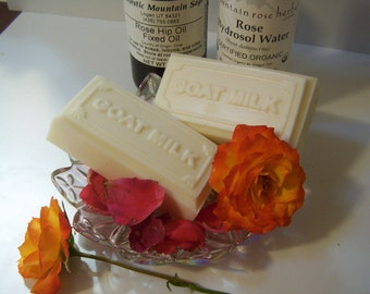 Mature Skin Goats Milk Soap - With Shea Butter, Rosewater and Rosehip Seed Oil