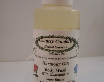 Mature Skin Natural Body Wash -  With Goatsmilk, Shea Butter and Silk Protein Conditioners - Thick, Rich Formula  - 4 oz bottle