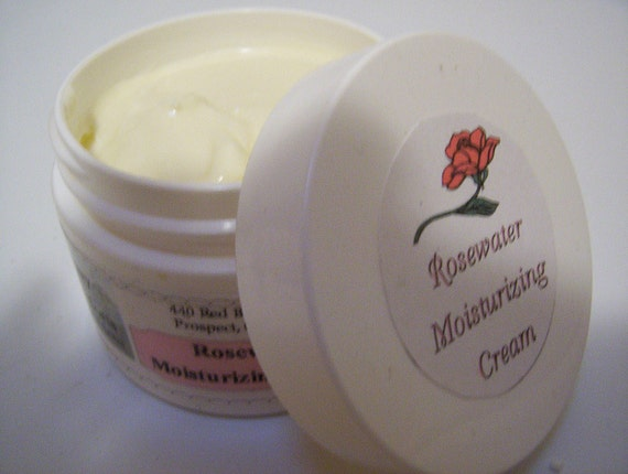 Rosewater Moisturizing Cream, For Dry and Mature Skin Types - 1/2 oz jar
