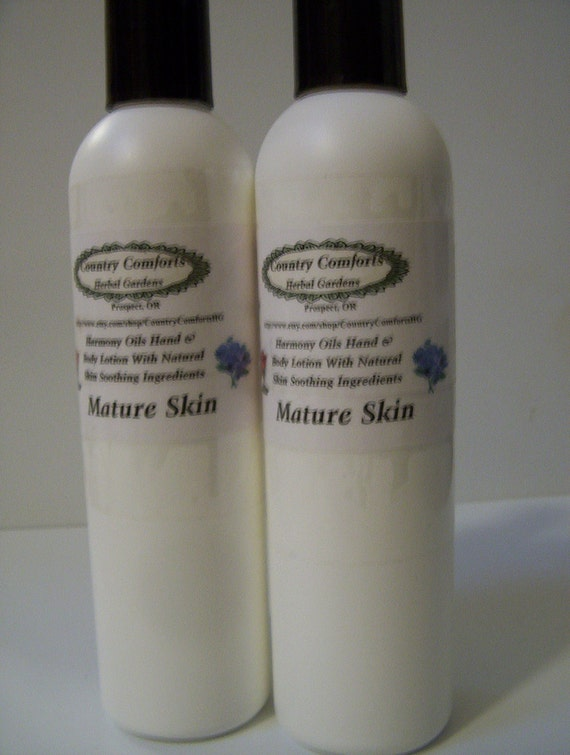 Hand & Body Lotion for Mature Skin  - Dry skin lotion, chapped skin, soothing lotion - 8 oz bottle