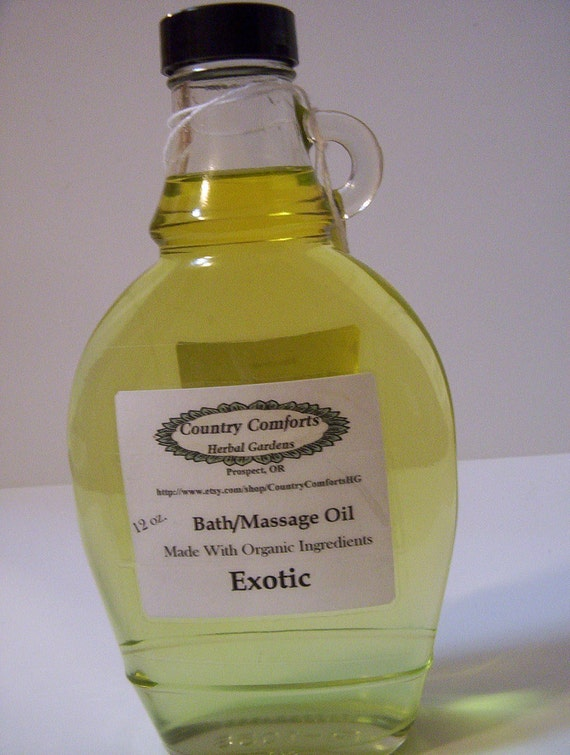 Aromatherapy Bath Oils - 4 Therapeutic Oils to Choose From - New Size - 12 oz decorative glass bottle