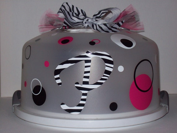 Personalized/Monogrammed Cake Carriers