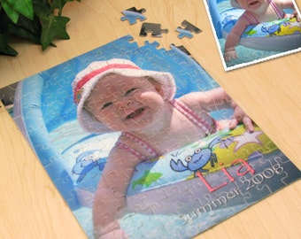 Personalized Photo Puzzle : Your Photo and Text Create a Unique Gift for Kids, Grandparents, or Friends