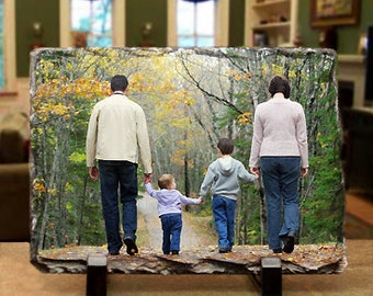 Personalized Photo Slate Plaque : Your Photo Imprinted on Slate to Create a Natural, Unique Display in Your Home