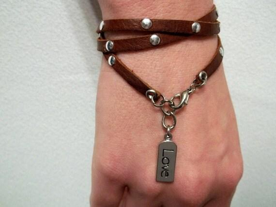 Deerskin Leather Wrap Bracelet