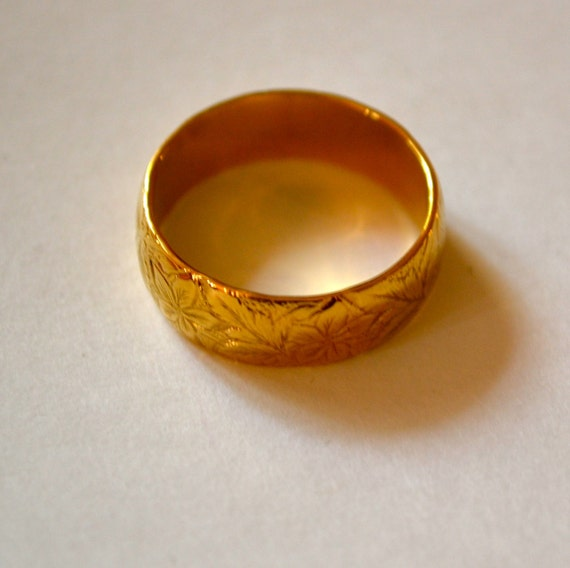 VINTAGE Gold  Plated Women's Wedding Ring Size 8.5, Half Off Sale plus Free USA Shipping.