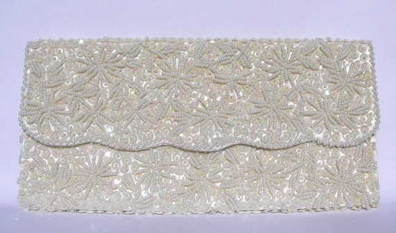 SALE 1960's Beaded and Sequined Clutch