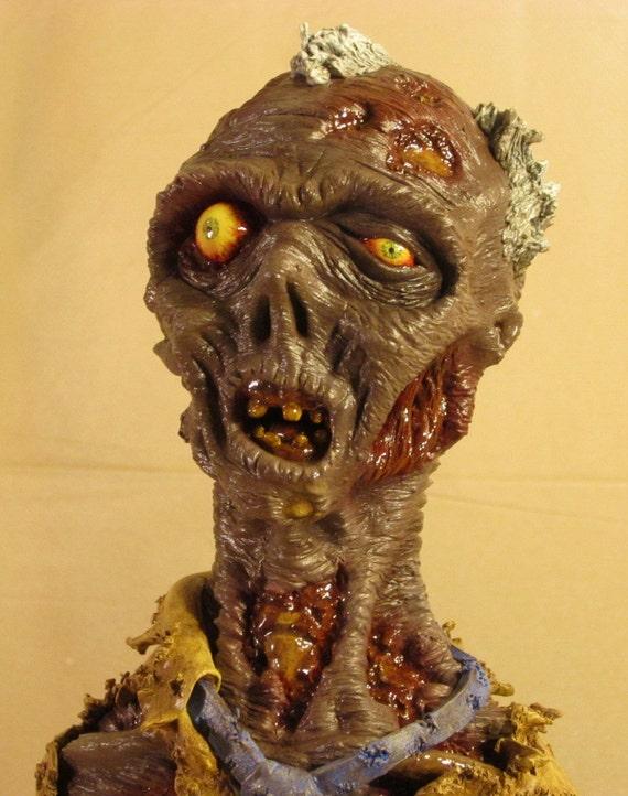 Dead Zed, OOAK Small-Scale Polymer Clay Bust