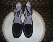 Vintage suede black shoes size 9 M