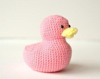 Little Duckling Crochet Pattern, Rubber Duckie Amigurumi, Little Duckling Amigurumi, Rubber Duckie Crochet Pattern Bath Duck Crochet Pattern