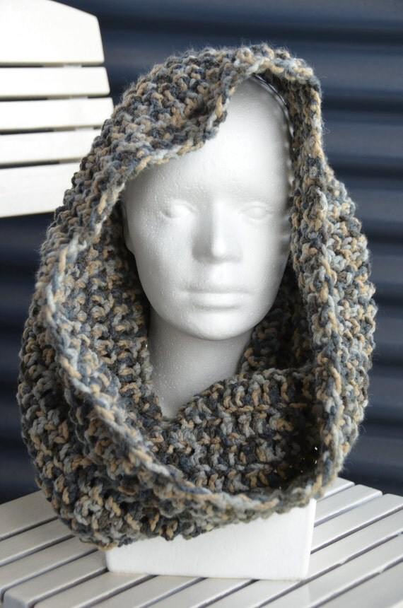 Chunky Hooded Cowl Crochet Pattern Cowl Scarf Crochet