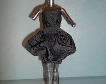 Barbie Gray Bubble Dress