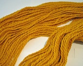 Handspun Yarn 'Gold Lion' Corriedale Wool 2 ply Worsted Weight