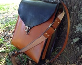 """Leather Shoulder Bag, Genuine Leather, """"The Monica"""" Handmade in the USA,"""