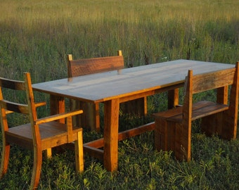 Reclaimed Barnwood Dinning Table