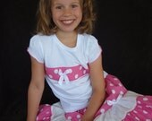 Beautiful Parley Ray Minnie Mouse Pink with White Polka dots Girls Full Ruffle Skirt