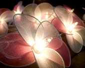Pink Colors Nylon Flower Wedding/Party String Lights 20 Lanterns