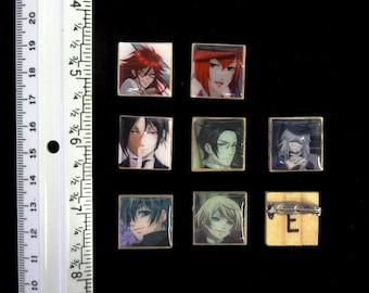 Black Butler Kuroshitsuji Anime Pin Set