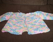 Pastel Rainbow Baby Sweater Set