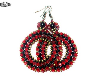Pattern Earrings Bohemian Rhapsody  - handmade seed beads tutorial