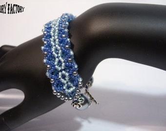 La Voce del Silenzio - Cuff/Bracelet PDF Pattern, seed beads handmade