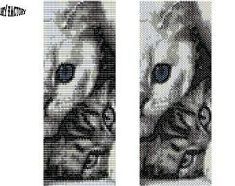 Guess Who  - Cuff/Bracelet PDF Pattern peyote/brick stitch