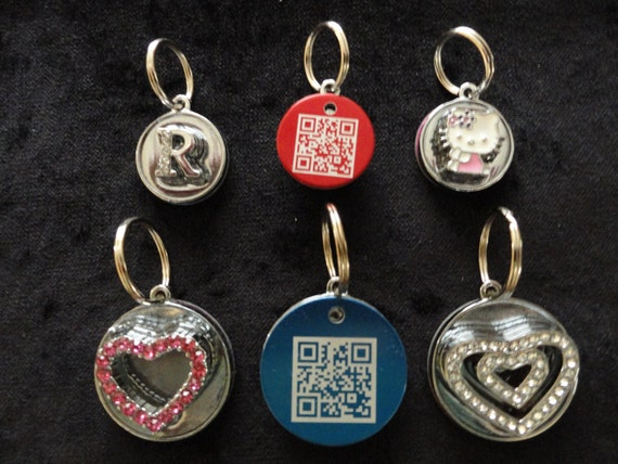 New Personalized Dog Cat Pet Bling ID tag with FurCode Hi-tech QR barcode tracking included