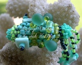 Bead Woven Turquoise Koi Fish is 3 D