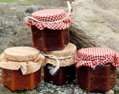 Holiday Apple Butter Sampler - Original Apple, Pumpkin Apple, Cranberry Apple, and Peach Apple Butter Flavors each in 4 oz jars