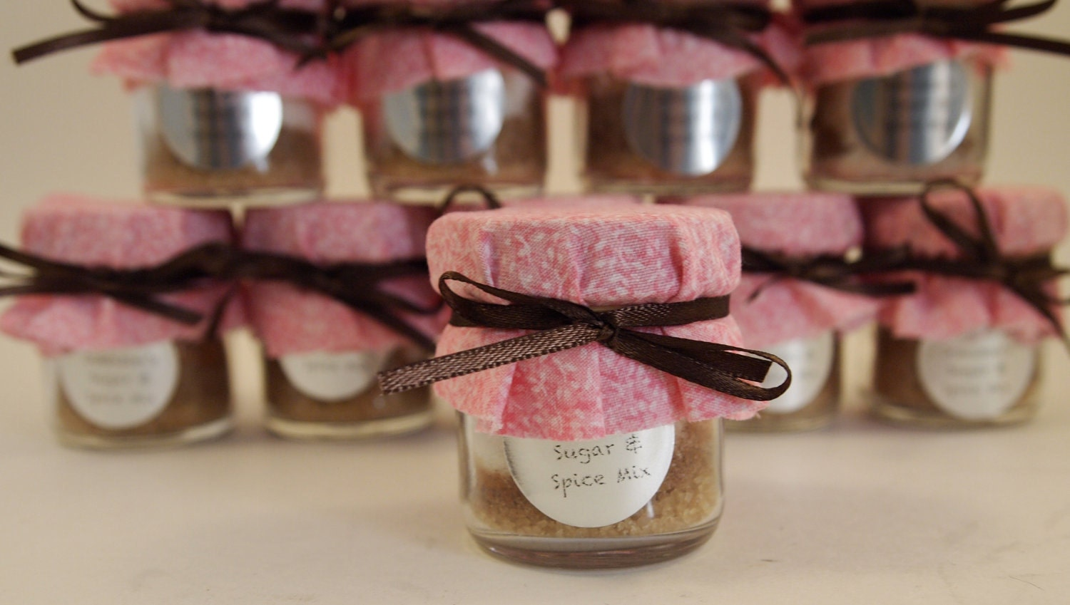 48 Sugar And Spice Baby Shower Favor Jars Custom Order For