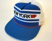 Vintage New York Love Unisex Baseball Cap Snap Back One Size Fits All
