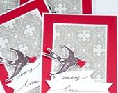 Valentine's Day Cards (set of 4) - Sending Love