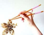 Sushi chopsticks: Lucky pink bamboo chopsticks for the sushi lover in your life