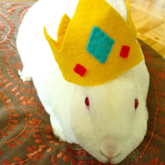 Pet costume BUNNY crown for cavy or bunny rabbit