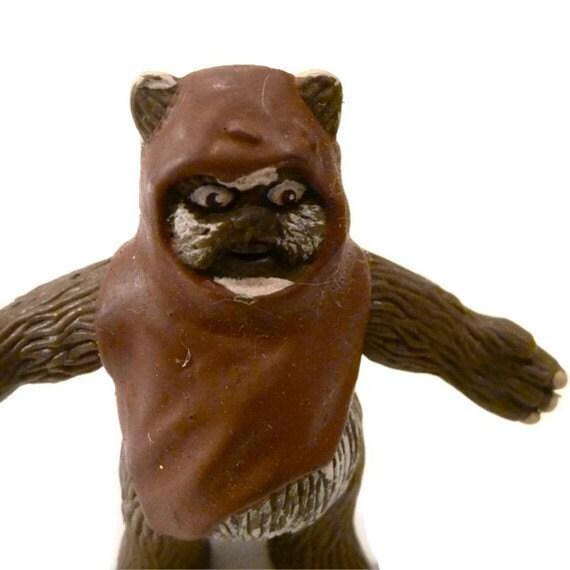 Ewok figurine action figure - Star Wars Ewok plastic bendy figurine