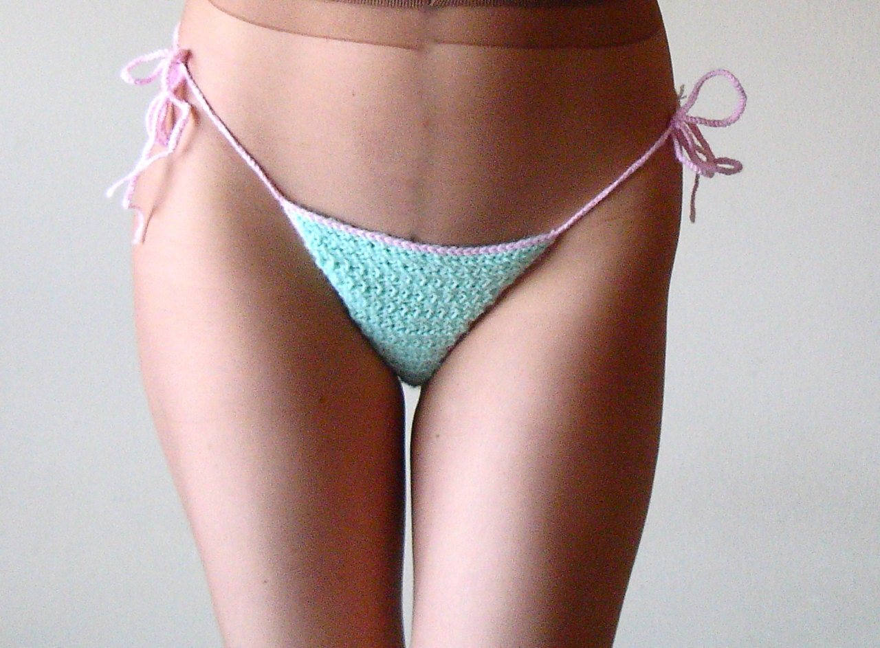 Crocheting Underwear : Crochet underwear bikini handmade knit panties by laMarmotaCafe