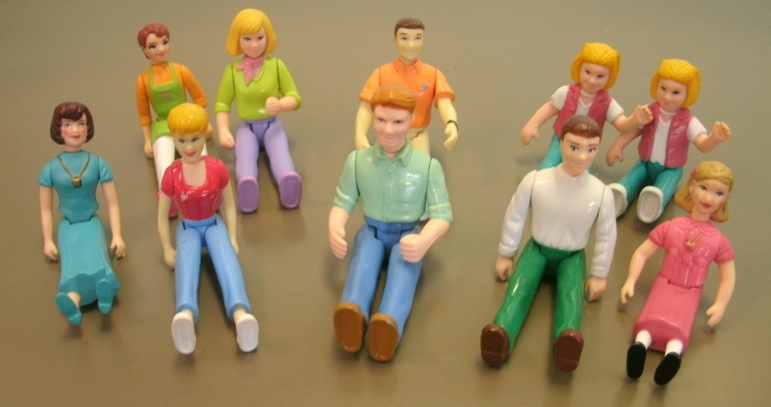 Toys For People : Vintage plastic people figurines lot of ten