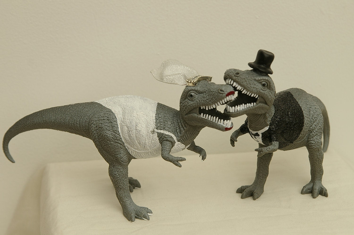 T Rex Wedding Cake Toppers