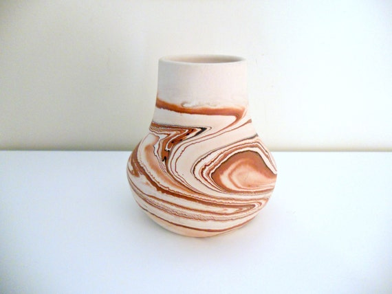 Vintage Nemadji Vase - Pink, Mauve, Collectible, Pottery, Retro
