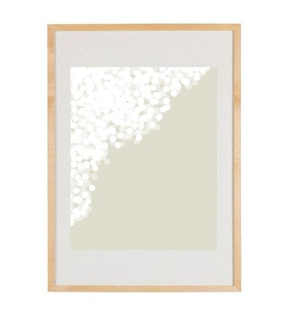 Claire White No. 2 - 8x10 Modern Art Print