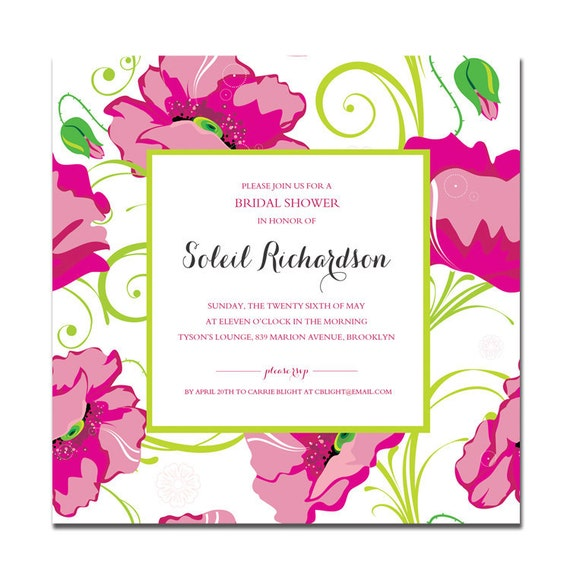 Pink green bridal shower invitation preppy lilly pulitzer il570xn filmwisefo Gallery