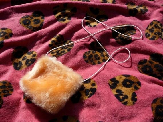 Orange Faux Fur Fun Fur Mini Purse 90s Spice Girls