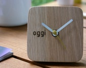 Handmade Wooden desk clock - made from recycle wood in my factory