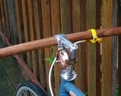 bicycle handlebar - solid TEAK wood, vintage style